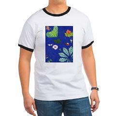 small Botanical (blue) T