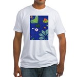 small Botanical (blue) Fitted T-Shirt