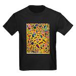 Gift Wrap (yellow) Kids Dark T-Shirt