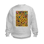Gift Wrap (yellow) Kids Sweatshirt