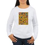 Gift Wrap (yellow) Women's Long Sleeve T-Shirt