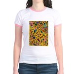 Gift Wrap (yellow) Jr. Ringer T-Shirt