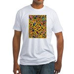 Gift Wrap (yellow) Fitted T-Shirt