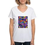 Magic Beans Women's V-Neck T-Shirt