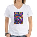 Magic Beans Women's V-Neck T-Shirt