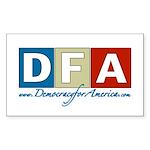 DFA - DEMOCRACY FOR AMERICA Rectangle Sticker