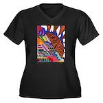 Millennium Women's Plus Size V-Neck Dark T-Shirt