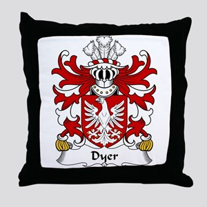 Dyer Family Crest Throw Pillow