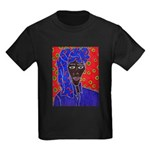 Woman in Headress Kids Dark T-Shirt
