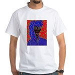 Woman in Headress White T-Shirt
