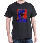 Woman in Headress Dark T-Shirt