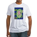 Large Botanical (pink) Fitted T-Shirt