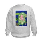 Large Botanical (pink) Kids Sweatshirt