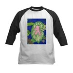 Large Botanical (pink) Kids Baseball Jersey