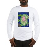 Large Botanical (pink) Long Sleeve T-Shirt