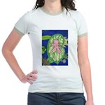 Large Botanical (pink) Jr. Ringer T-Shirt