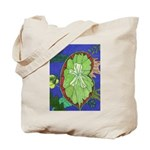 Large Botanical (blue) Tote Bag