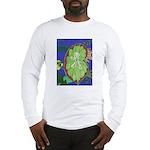 Large Botanical (blue) Long Sleeve T-Shirt