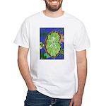 Large Botanical (blue) White T-Shirt
