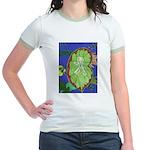 Large Botanical (blue) Jr. Ringer T-Shirt