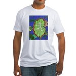 Large Botanical (blue) Fitted T-Shirt