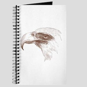 Vintage Bald Eagle pen and ink Journal