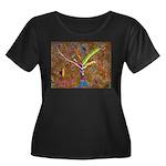 Wild Tree Women's Plus Size Scoop Neck Dark T-Shir