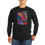 Lines Long Sleeve Dark T-Shirt