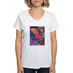 Lines Women's V-Neck T-Shirt