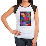 Lines Women's Cap Sleeve T-Shirt