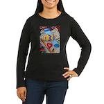 Desk Top Women's Long Sleeve Dark T-Shirt