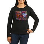 Cut Drop House Women's Long Sleeve Dark T-Shirt