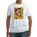 Flying Ribbons Fitted T-Shirt