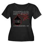 HOT ROD BOMB Women's Plus Size Scoop Neck Dark T-S