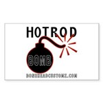 HOT ROD BOMB Rectangle Sticker
