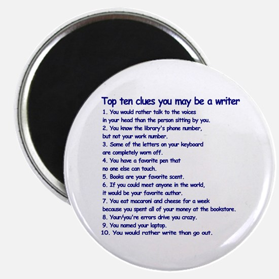 """Writer Clues 2.25"""" Magnet (100 pack)"""
