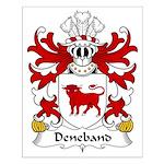 Deneband Family Crest Small Poster