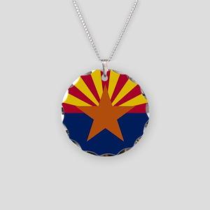 ARIZONA STATE FLAG Necklace Circle Charm
