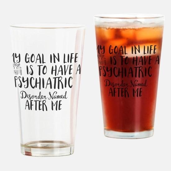 Cute Running my life Drinking Glass