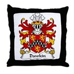 Dawkin Family Crest  Throw Pillow