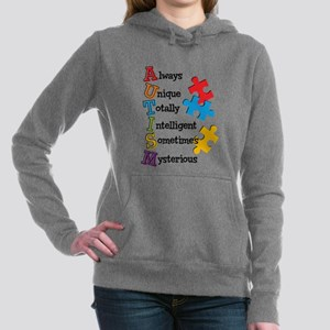 Autism Acrostic Women's Hooded Sweatshirt