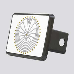 Man In The Maze Medallion Rectangular Hitch Cover