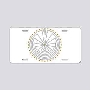 Man In The Maze Medallion G Aluminum License Plate