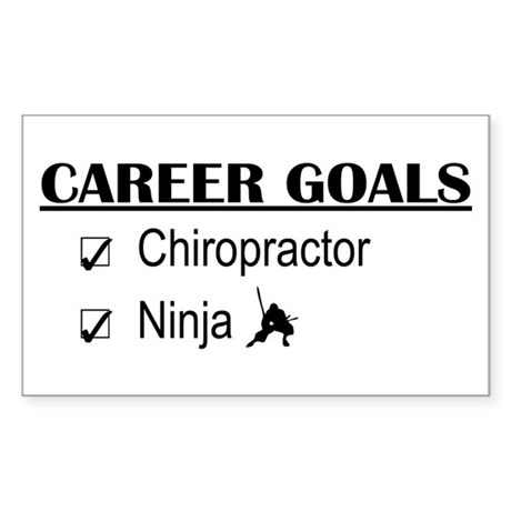Chiropractor Career Goals Rectangle Sticker