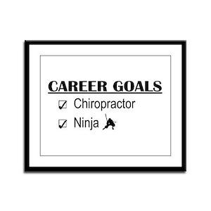 Chiropractor Career Goals Framed Panel Print