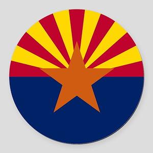 ARIZONA STATE FLAG Round Car Magnet