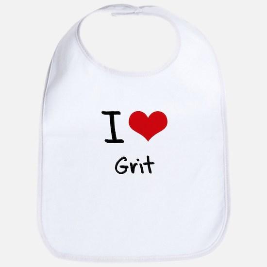 I Love Grit Baby Bib