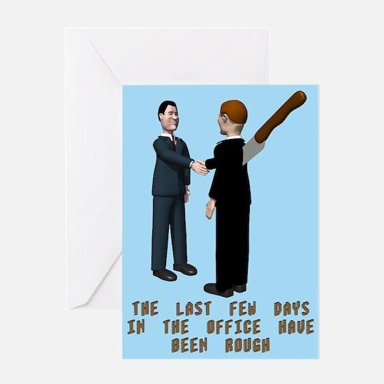 Office Backstabber Blank Greeting Card
