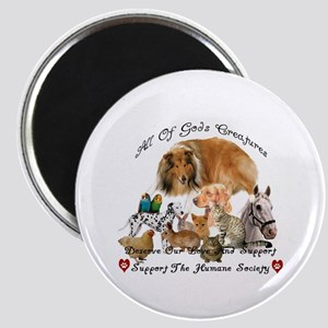 """Humane Society Support 2.25"""" Magnet (100 pack)"""