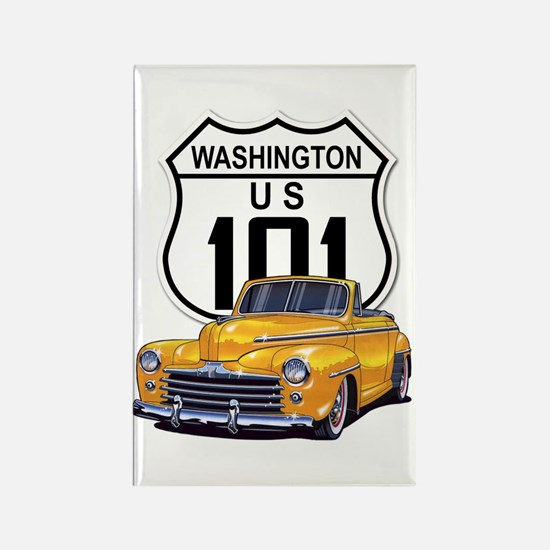 Washington Classic Car Rectangle Magnet